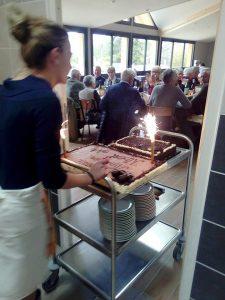 Repas de fête au gîte auberge de l'Edelweiss